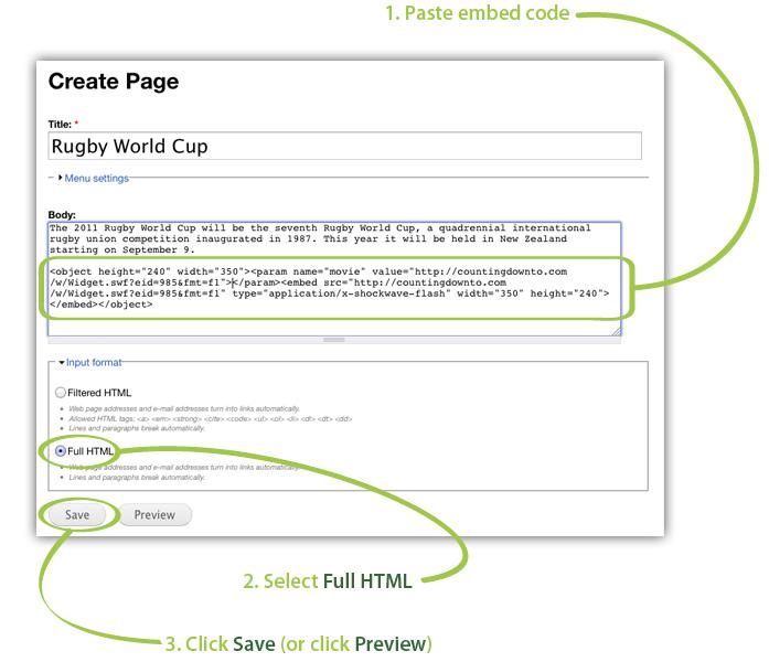 how to insert a break in custom html wp widget